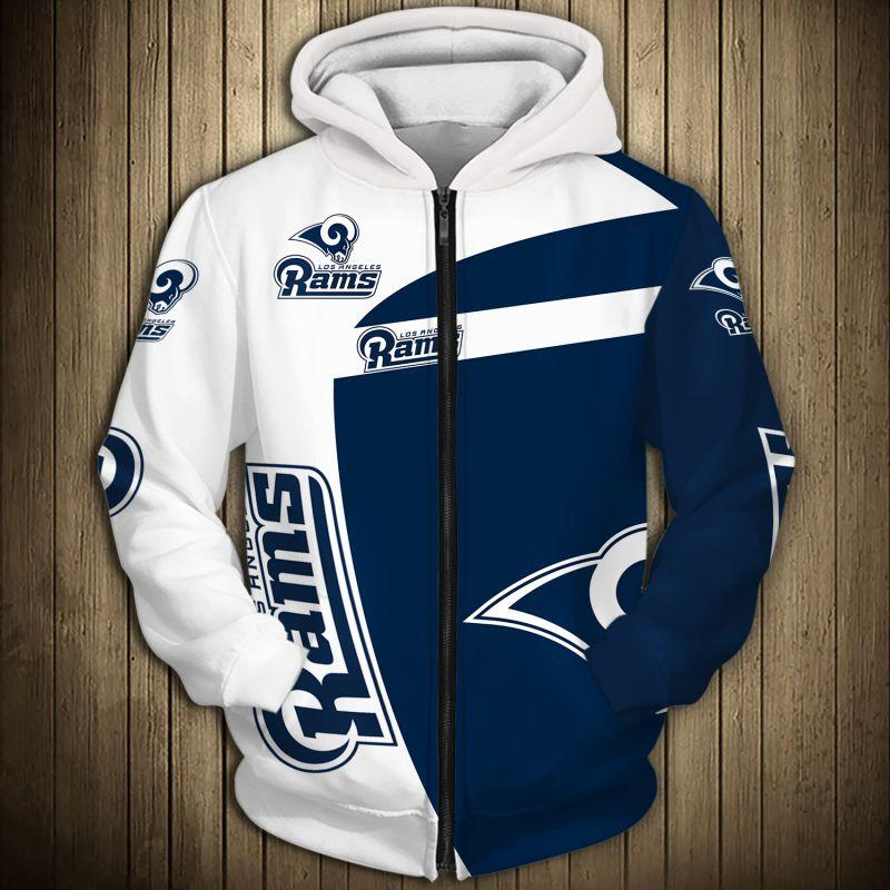 Los Angeles Rams Hoodie 3D Hooded Long Sleeve