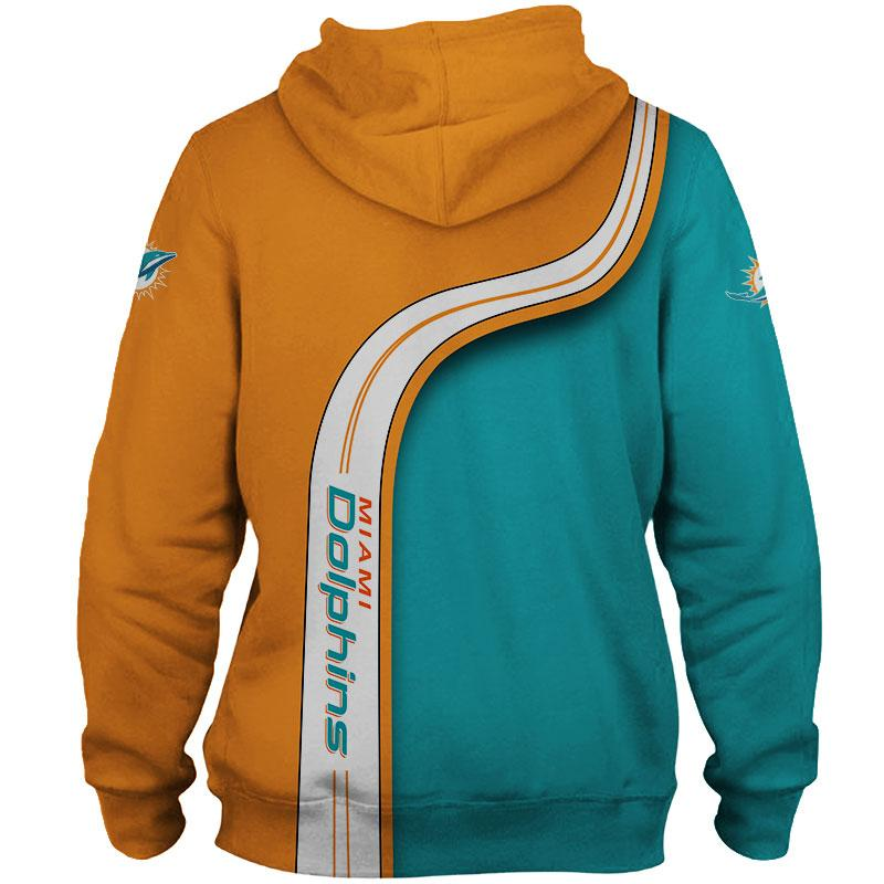 Miami Dolphins Zip Up Hoodie 3D Highway Letter
