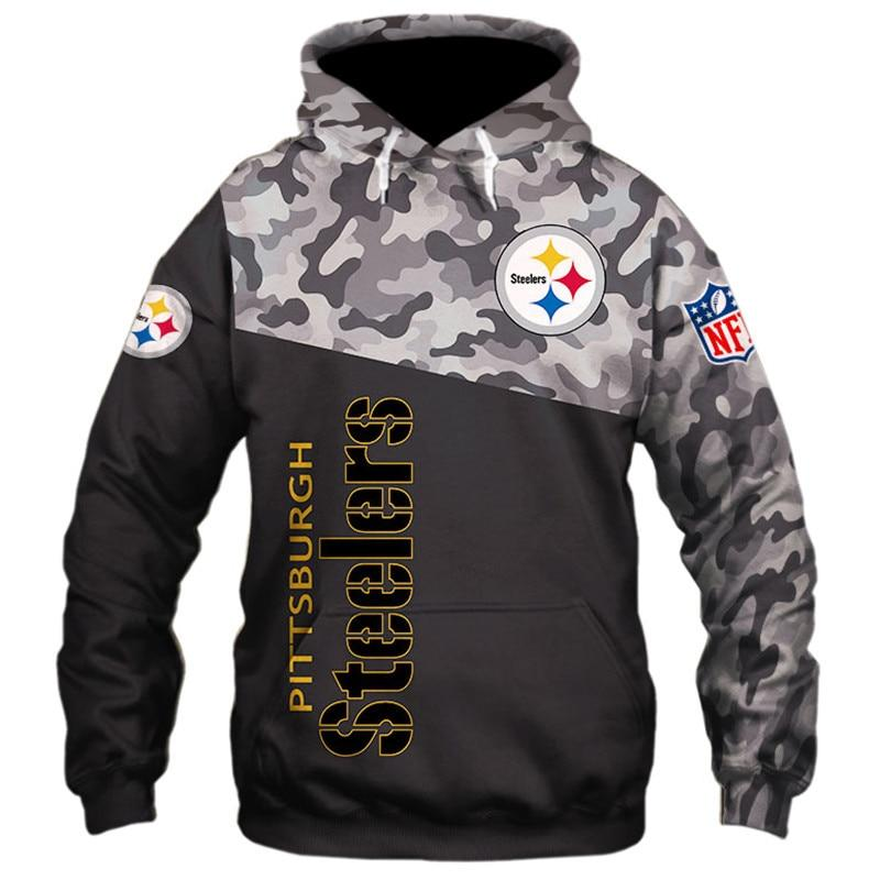 Pittsburgh Steelers Military Hoodie 3D With Hooded