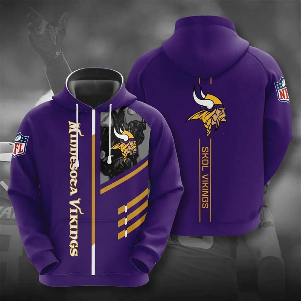 Minnesota Vikings 3D Printed Hooded Pocket Pullover Hoodie