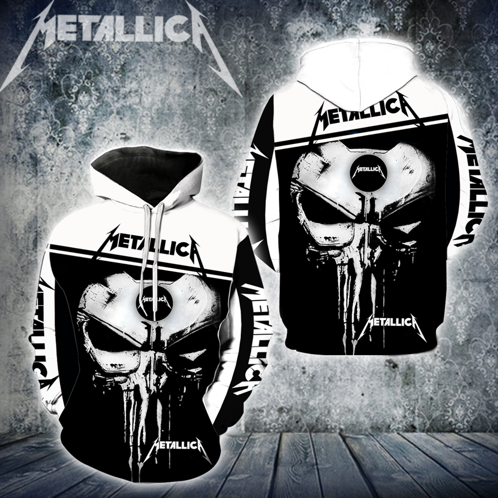 Metallica Punisher Skull  Full All Over Printed Hoodie