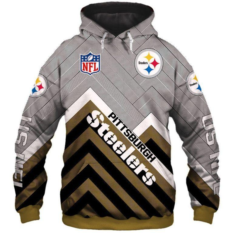 Pittsburgh Steelers 3D Printed Hooded Pocket Pullover Hoodie
