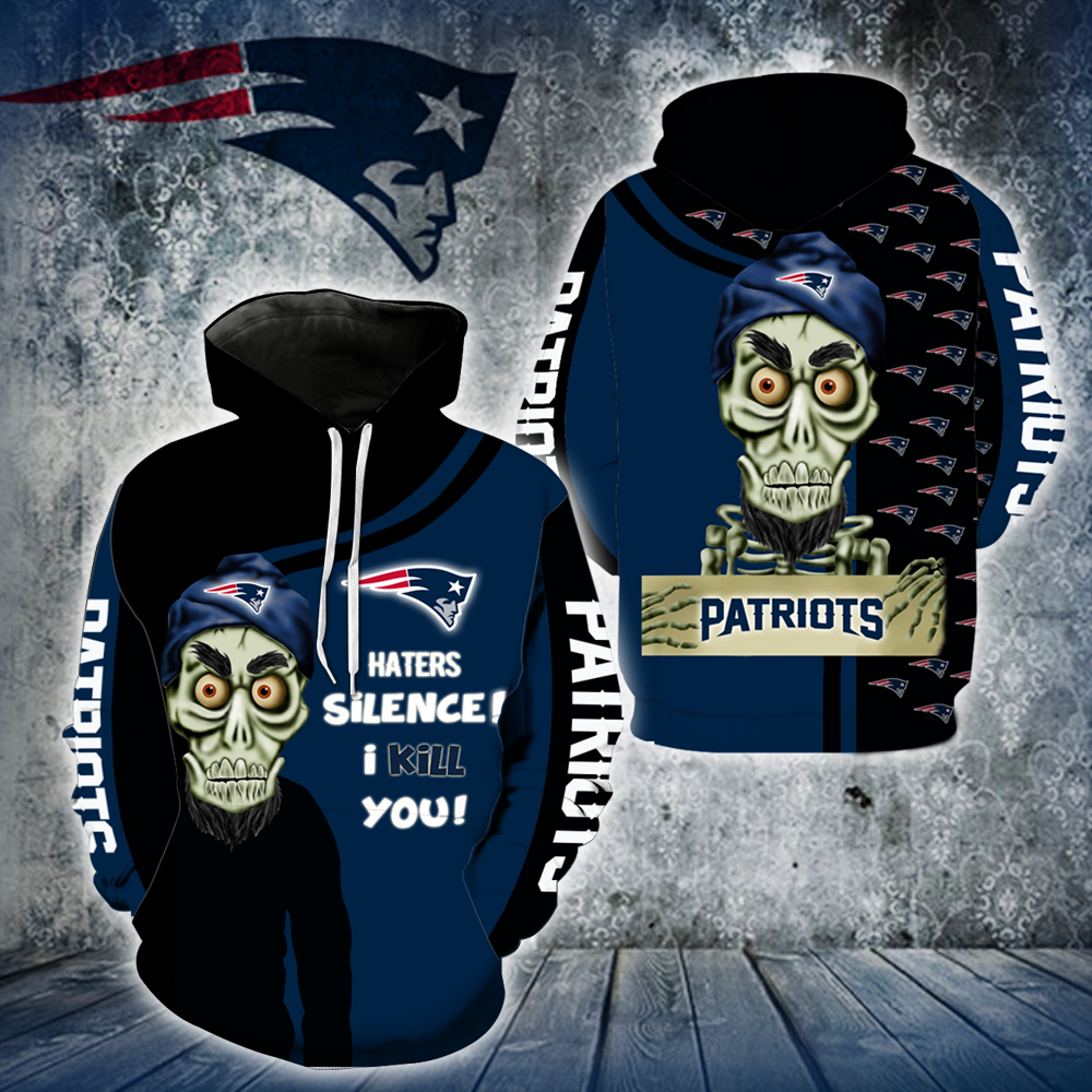 New England Patriots Achmed Skull  Full All Over Printed Hoodie