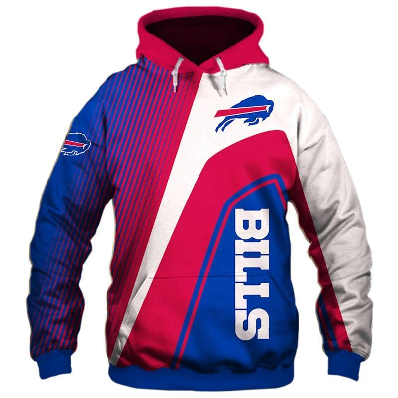 Buffalo Bills Hoodies Cheap 3D Sweatshirt Long Sleeve