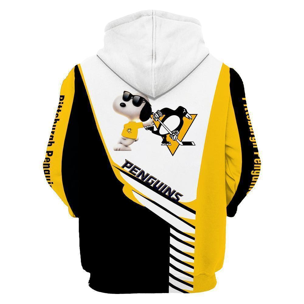 Penguin 3D Printed Hooded Pocket Pullover Hoodie