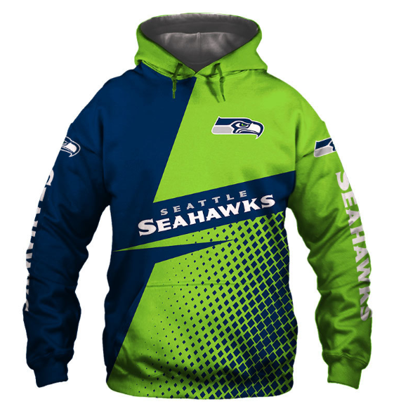 Seattle Seahawks 3D Printed Hooded Pocket Pullover Hoodie