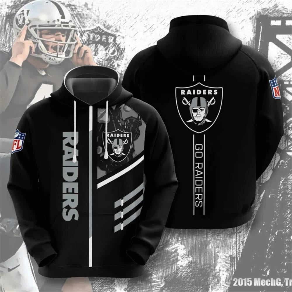 Las Vegas Raiders 3D Printed Hooded Pocket Pullover Hoodie