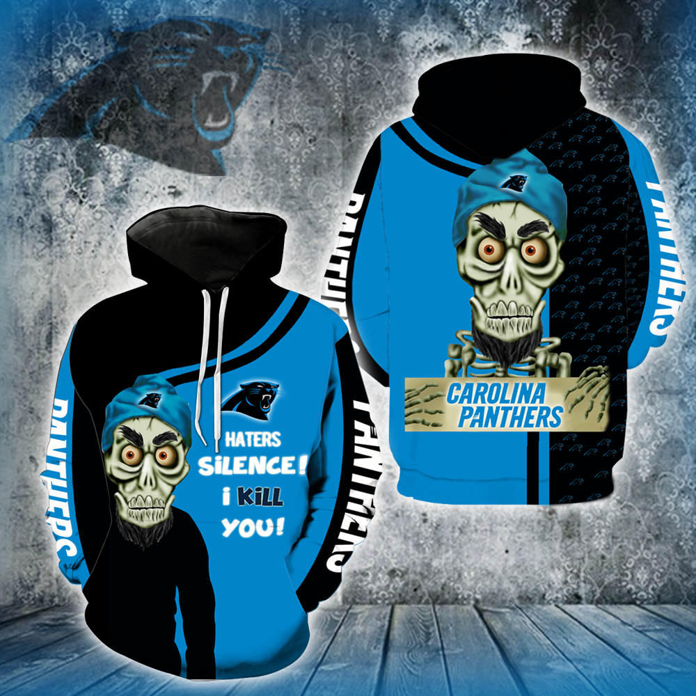 Carolina Panthers Achmed Skull  Full All Over Printed Hoodie