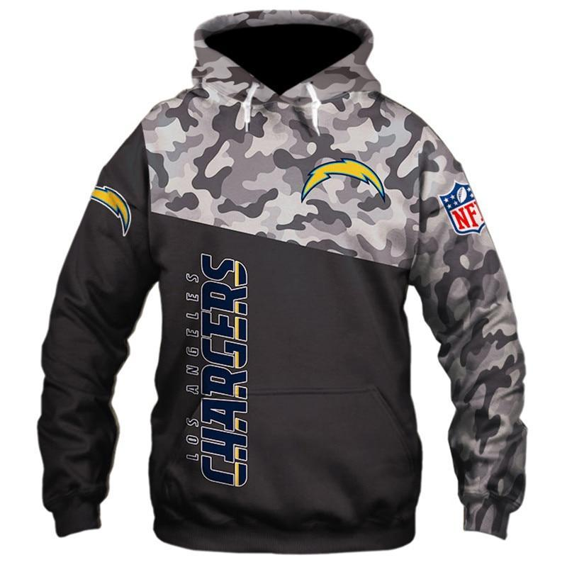 Los Angeles Chargers Military Hoodies 3D Sweatshirt Pullover