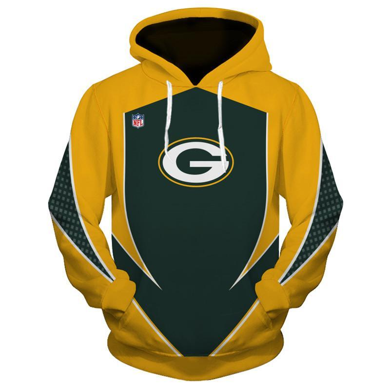 New Design Green Bay Packers Hoodies 3D Sweatshirt Pullover