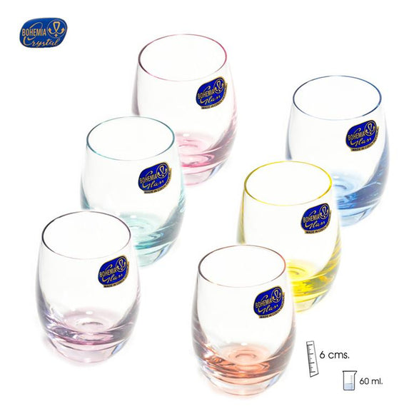 Set 6 vasos de licor de colores