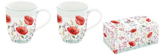 Set 2 mugs Amapolas