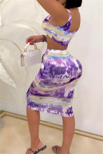Load image into Gallery viewer, 2 pc Multicolor Skirt set