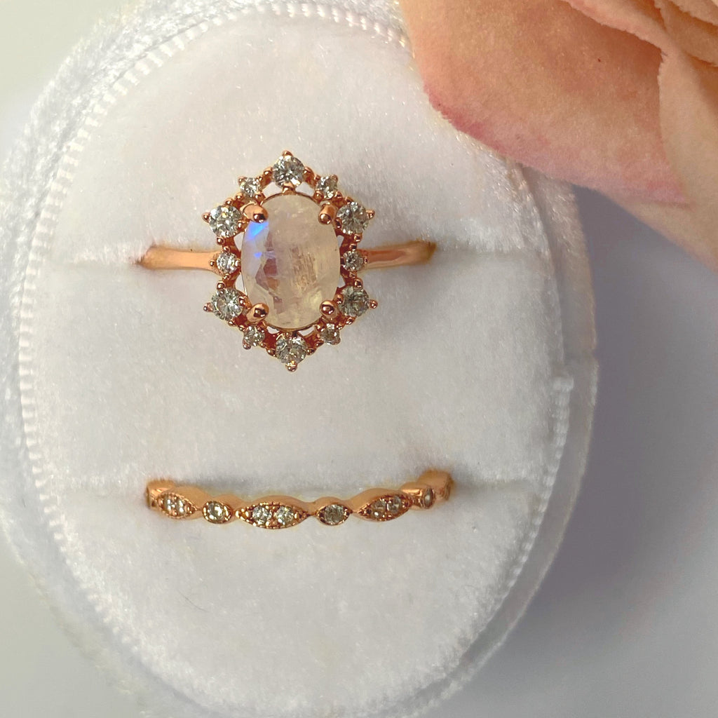 Victoria Moonstone Ring with Band