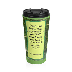Stainless Steel Travel Mug - Inspirational Scripture