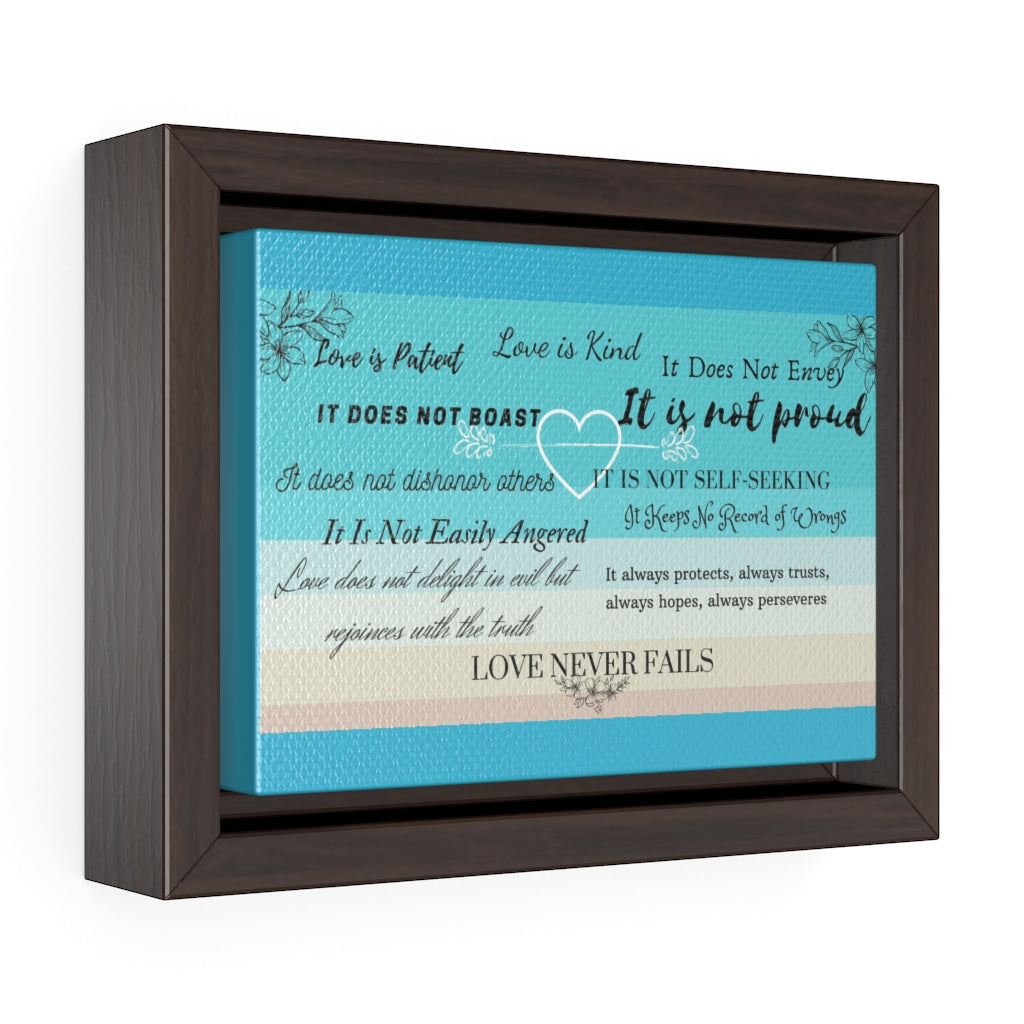 Horizontal Framed Premium Gallery Wrap Canvas - Inspirational Scripture