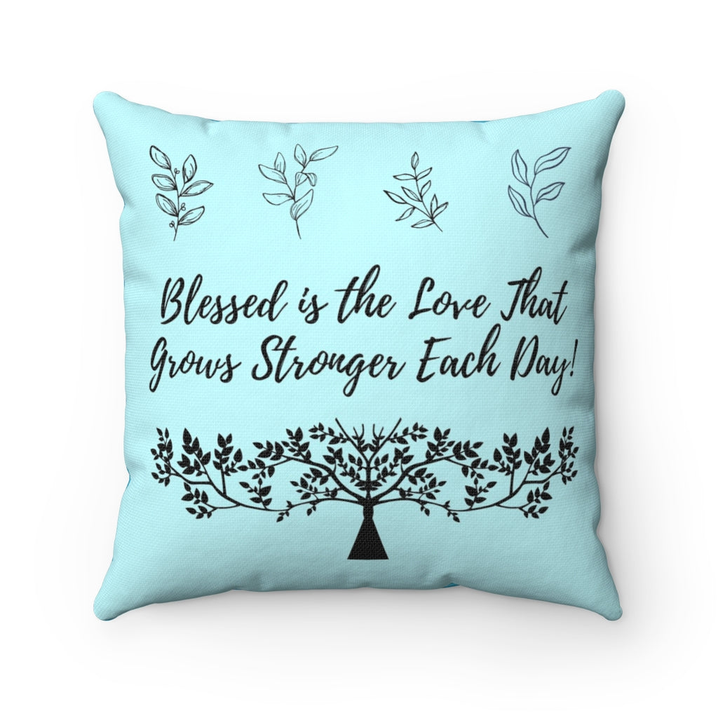 Spun Polyester Square Pillow - Inspirational