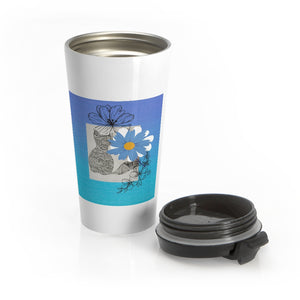 Stainless Steel Travel Mug - For the Love of Cats