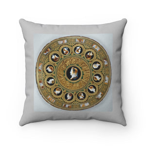 Spun Polyester Square Pillow: Inspired by Antiquity