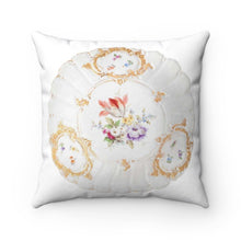 Load image into Gallery viewer, Spun Polyester Square Pillow: Meissen and The Inspiration of Antiquity