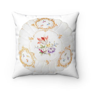 Spun Polyester Square Pillow: Meissen and The Inspiration of Antiquity