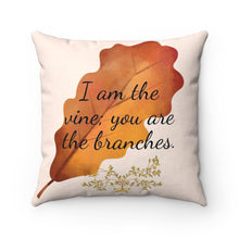 Load image into Gallery viewer, Faux Suede Square Pillow - Inspirational Scripture