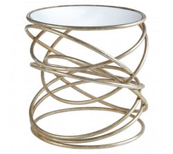 Zariah Spiral Design Side Table
