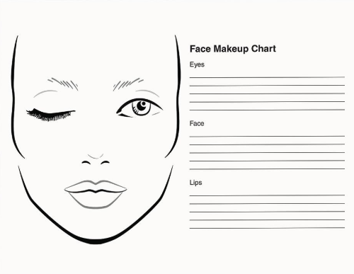 Makeup Face Charts Sheets