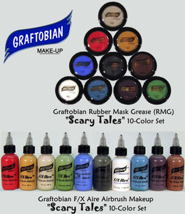 "Graftobian ""Scary Tales"" FX Aire Airbrush or RMG Creme Makeup Sets"