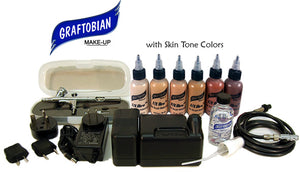 Graftobian Walk Around FX Aire Airbrush System Character Skin Tone Colors