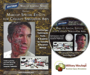 Makeup Special Effects for Casualty Simulation Arts DVD, by Graftobian
