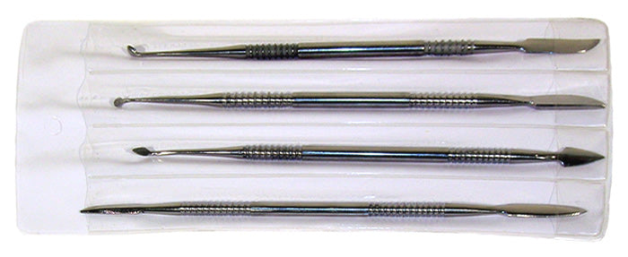 4 piece Stainless Steel Carver Tool Set