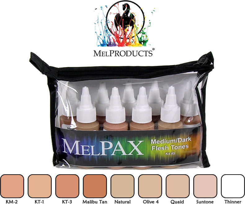 Mel Products MelPAX Kit No 5, Medium Dark Flesh Tones
