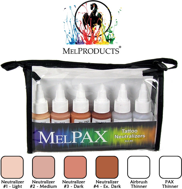 Mel Products MelPAX Kit No 9 Tattoo Neutralizers