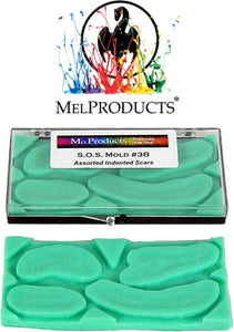 MEL Products SOS Mold 3B Assorted Indented Scars