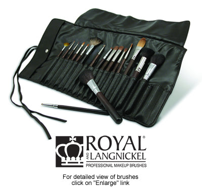 Graftobian 17 Piece Professional Makeup Brush Set by Royal and Langnickel