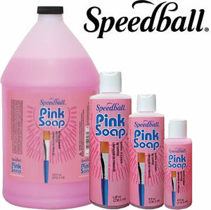 Speedball Pink Soap Brush Cleaner