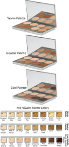 Graftobian HD Pro Powder Foundation 8 Color Pro Palette