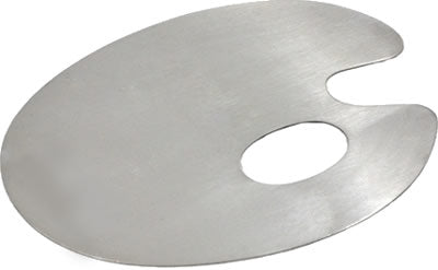 Oval Thumb Hole Stainless Steel Mixing Palette