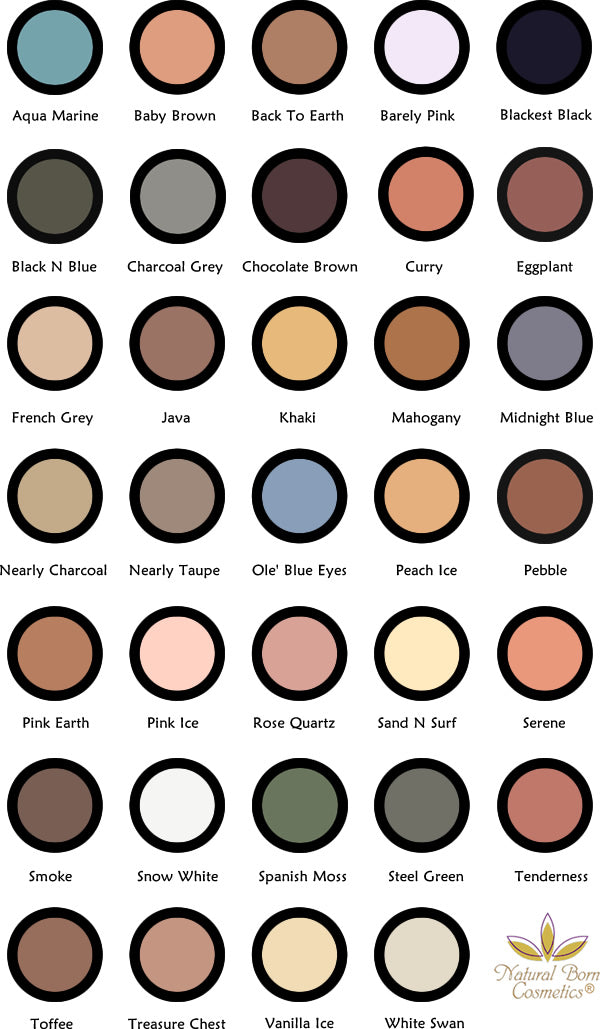 Natural Born Cosmetics Eye Shadow Palette Refill Pans