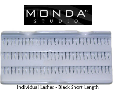 Monda Studio Single Short Black Individual Eyelashes