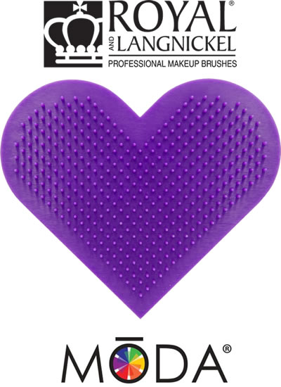 Moda Tools Heart Scrubby Makeup Brush Cleaning Pad