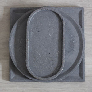 Large Concrete Round Tray
