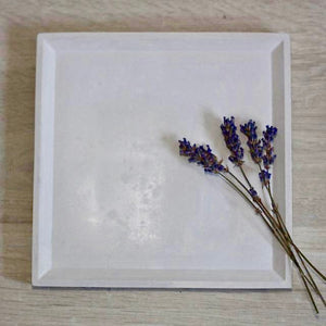 Large Concrete Square Tray