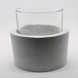 Vasiliki - Concrete and Glass Vase