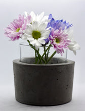Load image into Gallery viewer, Vasiliki - Concrete and Glass Vase