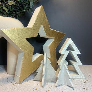Minimal Christmas Trees (Concrete)