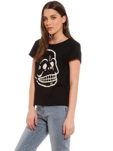 Womens Cheap Monday Skull T-Shirt