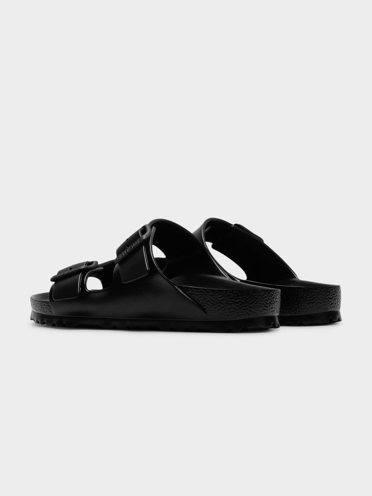 Mens Arizona EVA Two Strap Sandals in Black