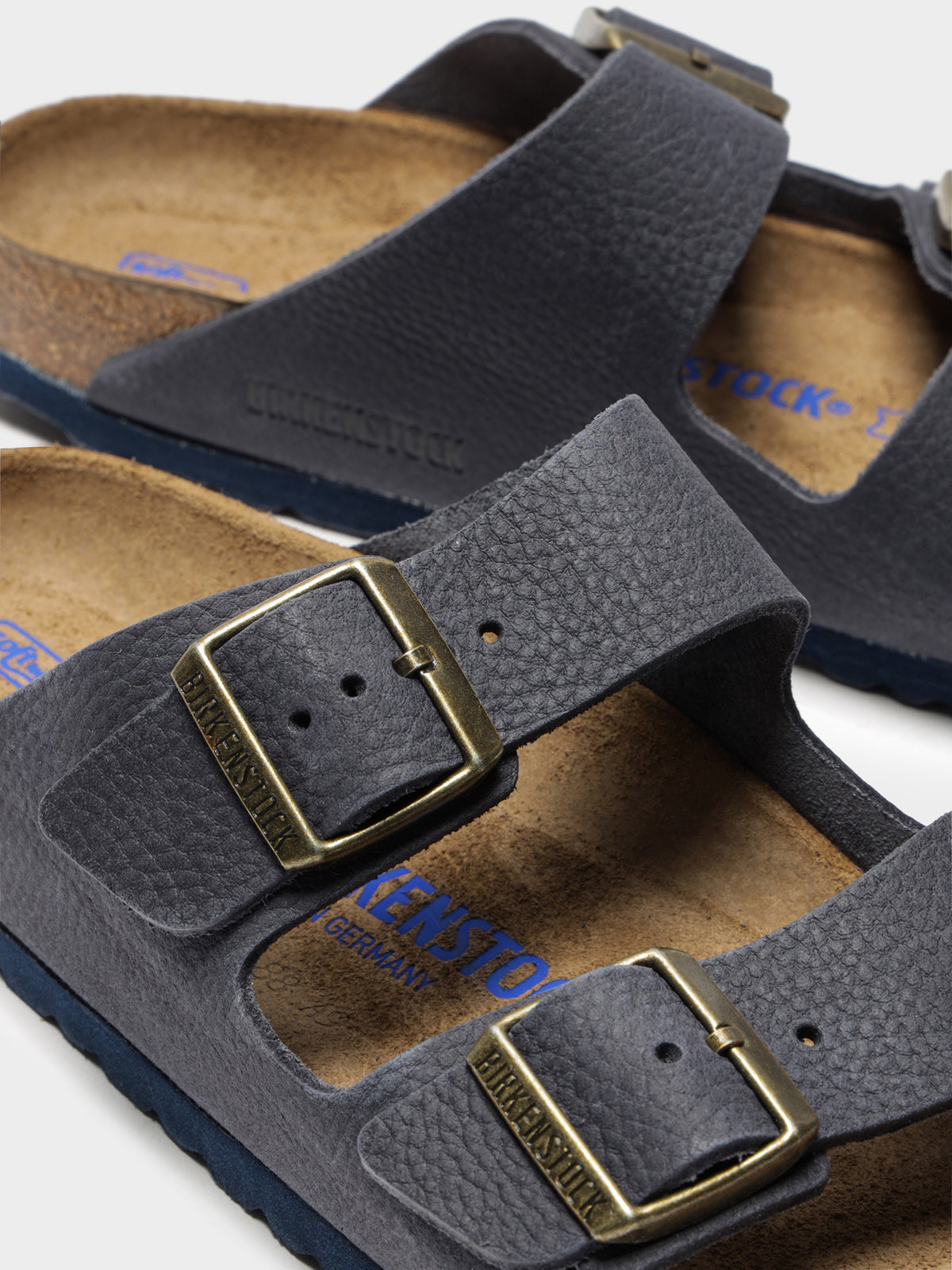 Arizona 2 Strap Sandals in Steer Indigo